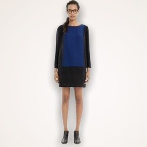 MADEWELL Colour-Block Silk Blend Shift Dress